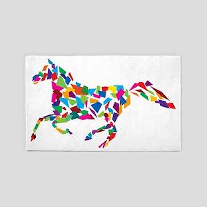 Running Horse 3'x5' Area Rug