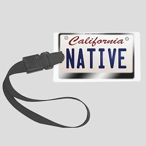 california_licenseplates-native2 Large Luggage Tag