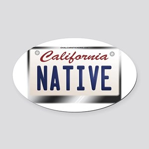 california_licenseplates-native2 Oval Car Magnet