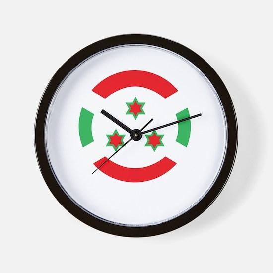 100percentBurundi1Bk Wall Clock