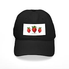 Strawberries Motif Baseball Hat