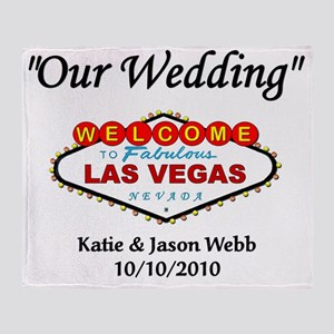 3-2010 our wedding template Throw Blanket