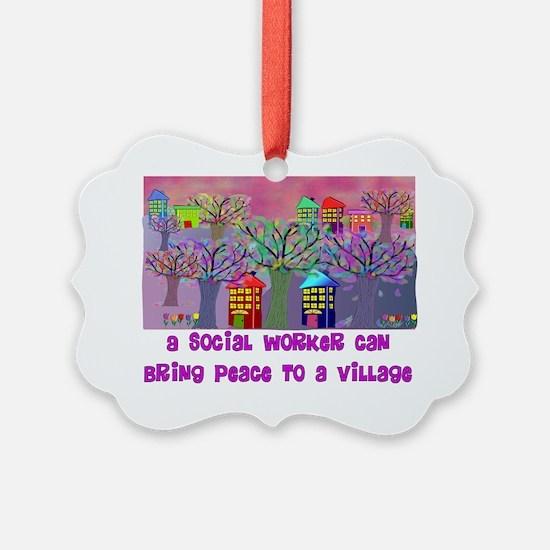 Village Social Worker Ornament