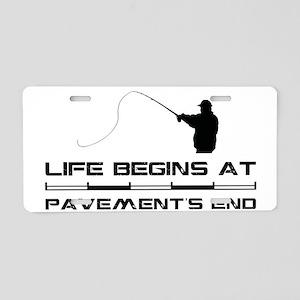 2-Fishing Aluminum License Plate