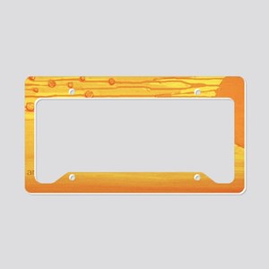 heat wave small frame print o License Plate Holder