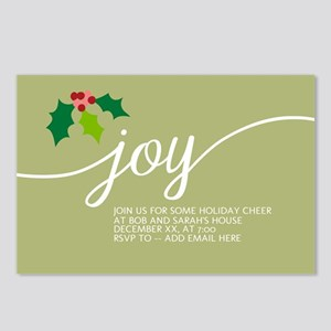 Joy Holly Green Postcards (Package of 8)