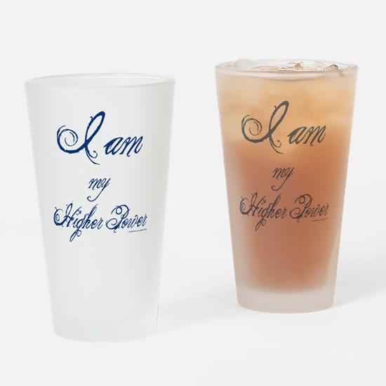 IamMyHigherPower_10x10 Drinking Glass