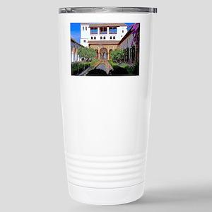 Alhambra in Granada Stainless Steel Travel Mug
