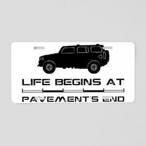 Hummer1 Aluminum License Plate