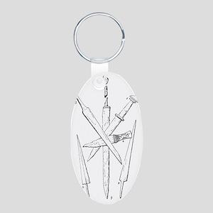 ancient british war knives Aluminum Oval Keychain