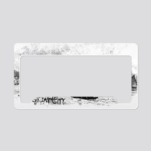 ny water great city License Plate Holder