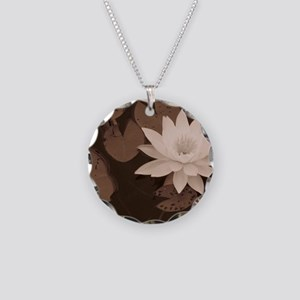 sepia Necklace Circle Charm