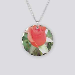 rose Necklace Circle Charm