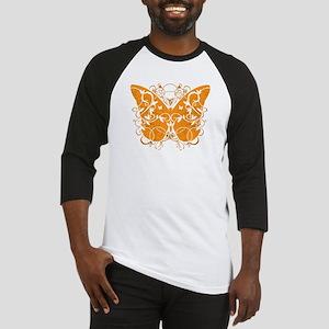 Leukemia-Butterfly-blk Baseball Jersey
