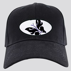 Black & Blue Atheist butterfly Black Cap