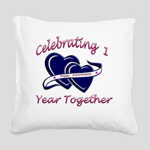 2-celebrating heart 1 copy Square Canvas Pillow