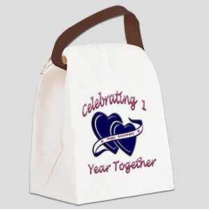 2-celebrating heart 1 copy Canvas Lunch Bag