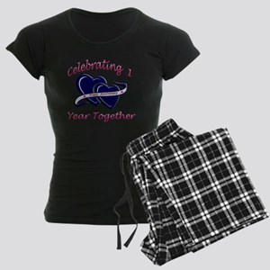2-celebrating heart 1 copy Women's Dark Pajamas