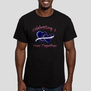 2-celebrating heart 1  Men's Fitted T-Shirt (dark)