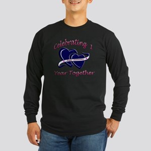 2-celebrating heart 1 cop Long Sleeve Dark T-Shirt