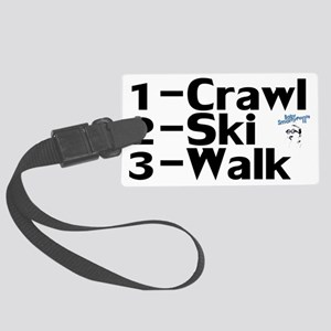 CrawlSkiWalk Large Luggage Tag
