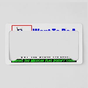 wantwhite License Plate Holder