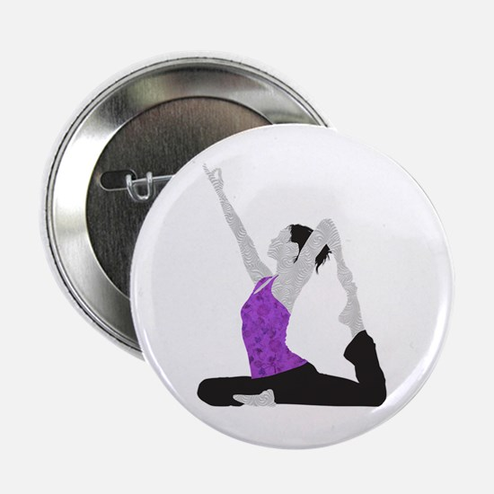 "Yoga Pose 2.25"" Button"