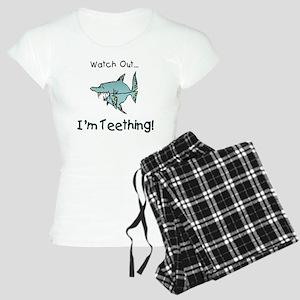 im teething shark Women's Light Pajamas