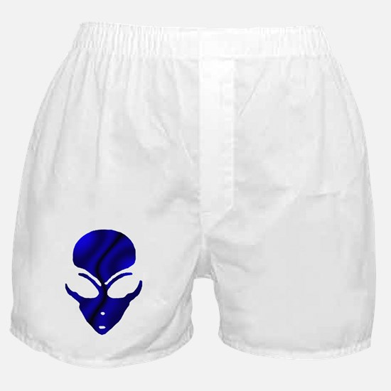 Black N Blue Alien Face Boxer Shorts