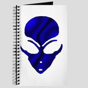 Black N Blue Alien Face Journal