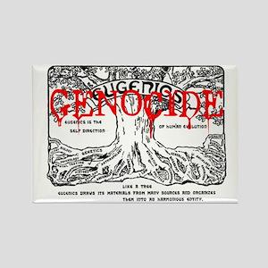 eugenics = genocide Rectangle Magnet