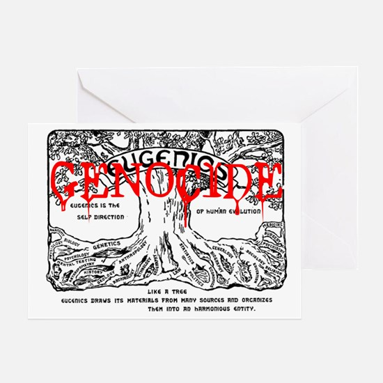 eugenics = genocide Greeting Card