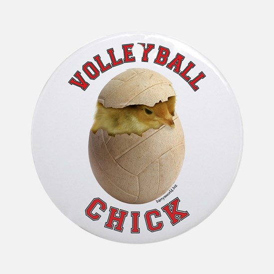 Volleyball Chick 2 Ornament (Round)