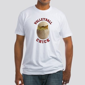 Volleyball Chick 2 Fitted T-Shirt