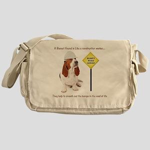 Basset Hound Construction Worker Messenger Bag