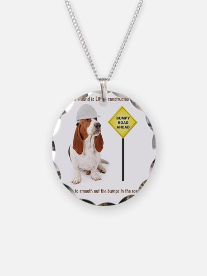 Basset Hound Construction Wo Necklace