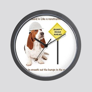 Basset Hound Construction Worker Wall Clock