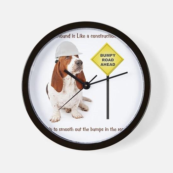Basset Hound Construction Worker Wall Clock