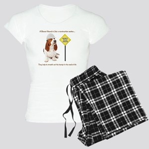 Basset Hound Construction W Women's Light Pajamas