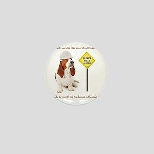 Basset Hound Construction Worker Mini Button