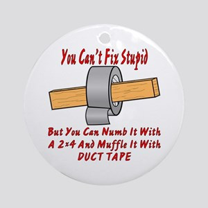 With 2x4 & Duct Tape Ornament (Round)
