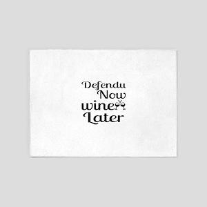 Defendu Now Wine Later 5'x7'Area Rug