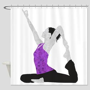 Yoga Pose Shower Curtain