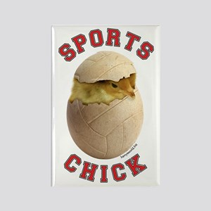 Volleyball Chick 3 Rectangle Magnet (10 pack)