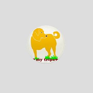 I Love My Tripawd Golden - Front Leg Mini Button