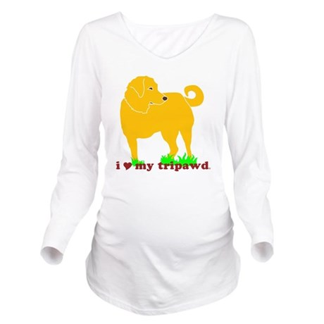 I Love My Tripawd Go Long Sleeve Maternity T-Shirt