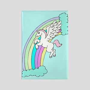 Retro Pegasus Rectangle Magnet