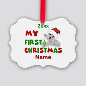 1st Christmas Bear Personalized Ornament