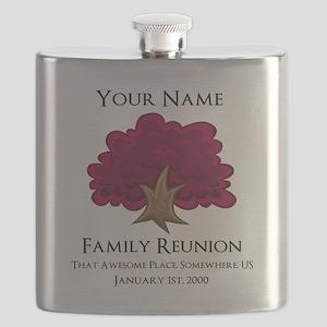 Purple Tree Family Reunion Flask