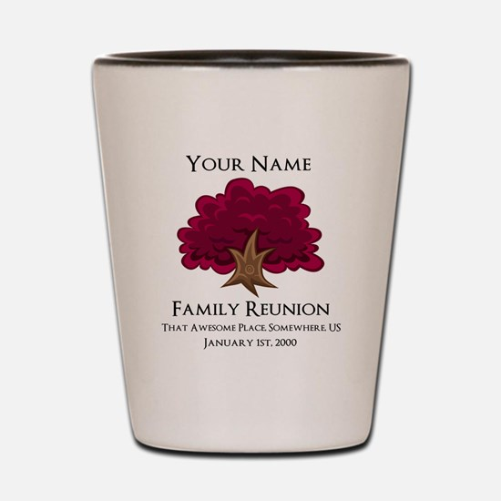Purple Tree Family Reunion Shot Glass